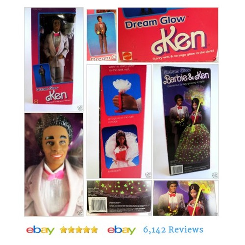 1985 Dream Glow #Ken SEALED NIB Mattel Starry Vest Corsage #Mattel #Friend #etsy #PromoteEbay #PictureVideo @SharePicVideo
