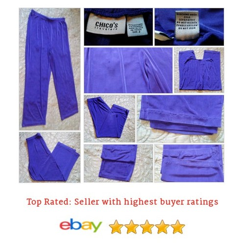 Chico's Women's Pants Size 2 Travelers Purple Stretch | eBay #Pant #Chico #DressPant #etsy #PromoteEbay #PictureVideo @SharePicVideo