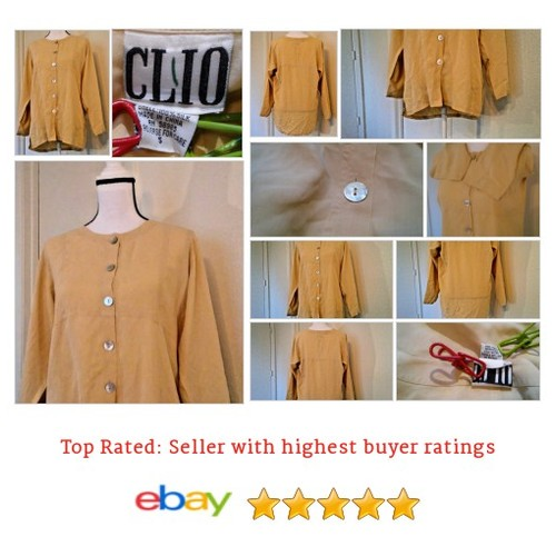 #Clio #PlusSize #Silk Beige Button #Spring #Hippy #BoHo #Top #Tunic #etsy #PromoteEbay #PictureVideo @SharePicVideo