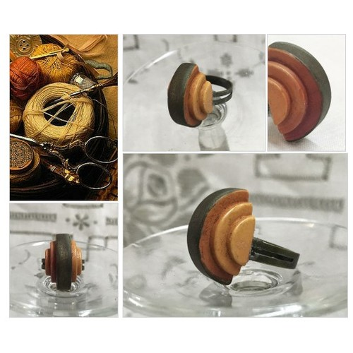 Wooden Adjustable Statement Ring Repurposed Vintage Carved Button Ring Vintage Button Shaped Wood Antique Button Ring  #etsyspecialt #integritytt #SpecialTGIF #Specialtoo  #SpecialTParty      @CoDWWIIScrims @FallingFearsRT #etsy #PromoteEtsy #PictureVideo @SharePicVideo