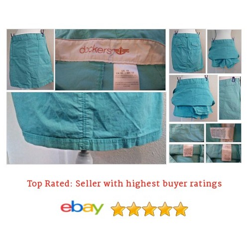 #Dockers #Teal Favorite Fit #Skort Size 10 Spring Summer eBay #Short #DOCKER #etsy #PromoteEbay #PictureVideo @SharePicVideo