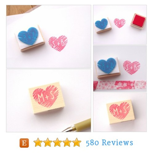 Initial stamp, Custom rubber stamp, Love #etsy @nico_stamps  #etsy #PromoteEtsy #PictureVideo @SharePicVideo