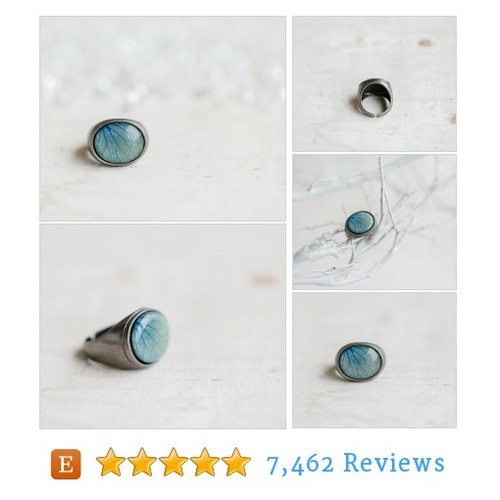 Sky blue statement #ring - Blue Hydrangea #etsy @beautyspot_shop  #etsy #PromoteEtsy #PictureVideo @SharePicVideo