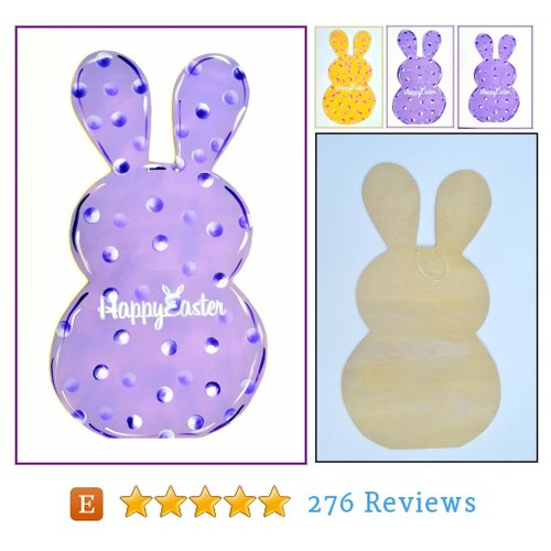 Easter Bunny Door Hanger, Easter #etsy @pricklypaw  #etsy #PromoteEtsy #PictureVideo @SharePicVideo