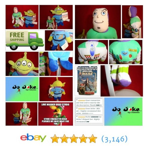 DISNEY-BUZZ LIGHTYEAR&ALIEN SET-BEAN PLUSHESTOY STORY-DISNEY STORE-NEW/TAGS-COOL | eBay #DISNEYSTOREEXCLUSIVE #etsy #PromoteEbay #PictureVideo @SharePicVideo