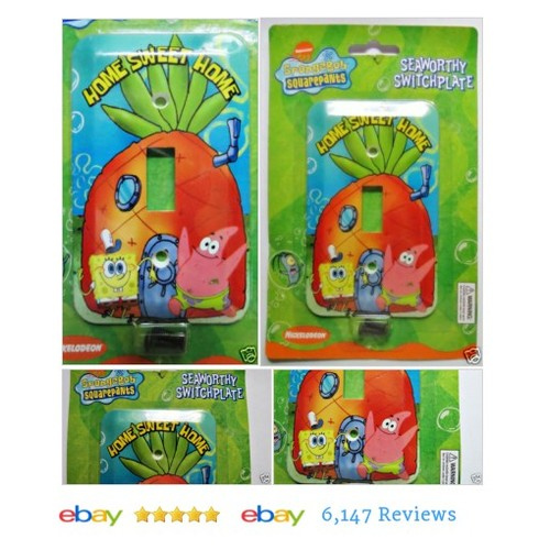 Spongebob Squarepants Light Switch Plate Cover Room Decor Home Sweet Home #Nickelodeon  #etsy #PromoteEbay #PictureVideo @SharePicVideo