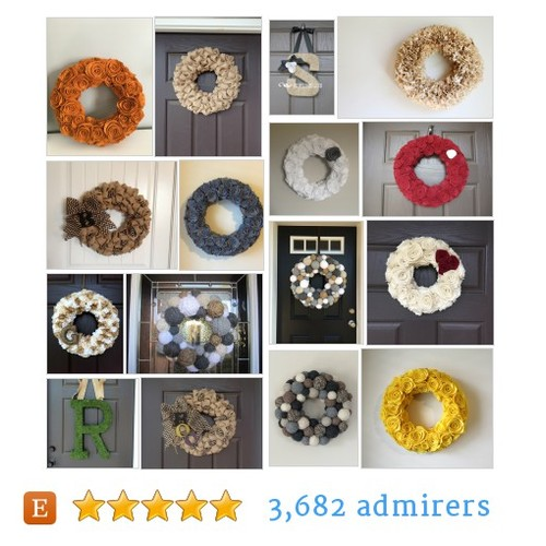 Wreaths #etsy shop #wreath @embellishedl  #etsy #PromoteEtsy #PictureVideo @SharePicVideo