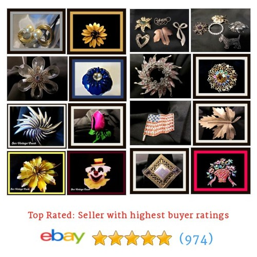 Vintage Broochs/Pins Items in Our Vintage Crush store #ebay @eclectic707  #ebay #PromoteEbay #PictureVideo @SharePicVideo
