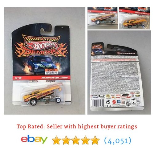 Hot Wheels Drag strip Demons Dale Pulde's War Eagle '77 #ebay @cvampiro69  #etsy #PromoteEbay #PictureVideo @SharePicVideo