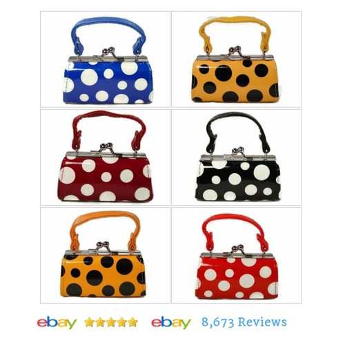 Mini Purse Lipstick Cases Wholesale Lot of 6 Colored Polka Dot Design #Makeup #Beauty #etsy #PromoteEbay #PictureVideo @SharePicVideo