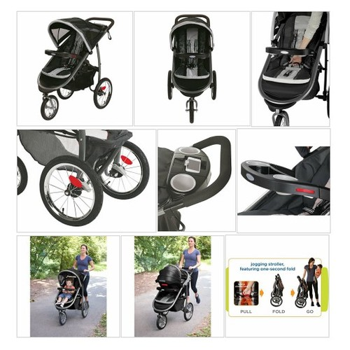 2015 Graco Fastaction Fold Jogger Click Connect Stroller, Gotham - Every Thing Baby #socialselling #PromoteStore #PictureVideo @SharePicVideo