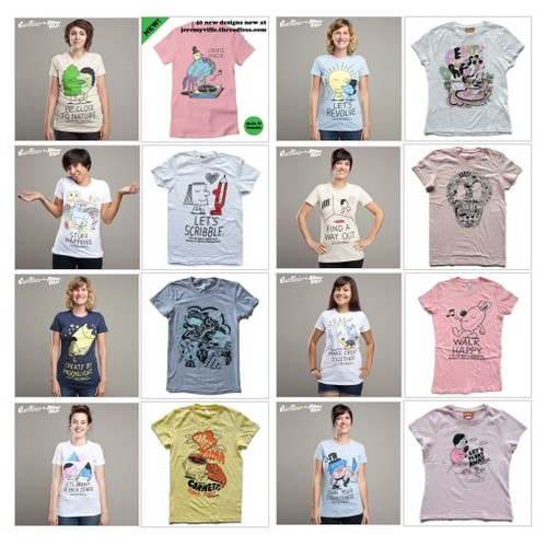 Jeremyville Corner Store — Female T-shirts #shopify @jeremyville  #shopify #PromoteStore #PictureVideo @SharePicVideo