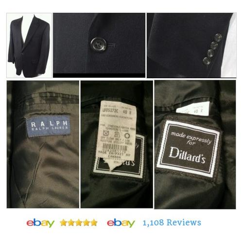 Ralph Lauren 100% Cashmere 2 Button Black Men's Blazer- Made in Canada 40R #etsy #PromoteEbay #PictureVideo @SharePicVideo