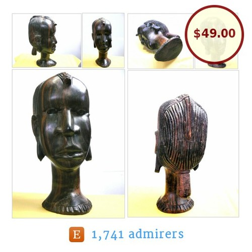 #Vintage #HandCarved #Wood #Art #Sculpture #Figure #African #WomansHead #CollectibleArt #Sculpture #etsyspecialt #ArtObject #etsyevolution @etsyRT  #etsy #PromoteEtsy #PictureVideo @SharePicVideo