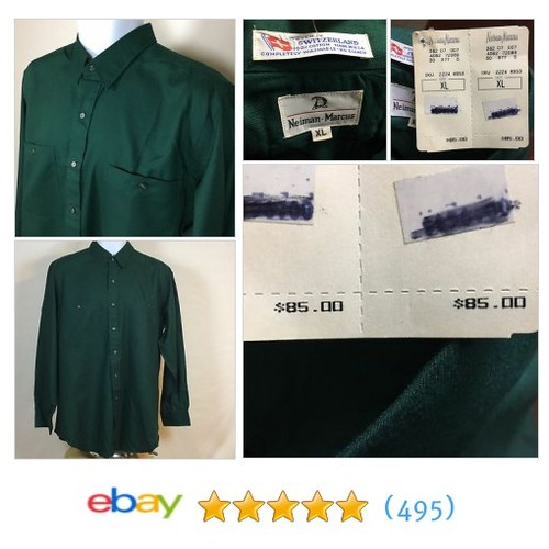 NEW Neiman Marcus Long Sleeve Sport Shirt Mens XL #ebay @davsdigs https://www.SharePicVideo.com/?ref=PostPicVideoToTwitter-davsdigs #etsy #PromoteEbay #PictureVideo @SharePicVideo