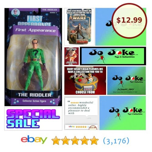 THE RIDDLER-FIRST APPEARANCE-DC DIRECT-SERIES 3-2005-ARTICULATED-RARE-VERY COOL! | eBay #Mattel #etsy #PromoteEbay #PictureVideo @SharePicVideo