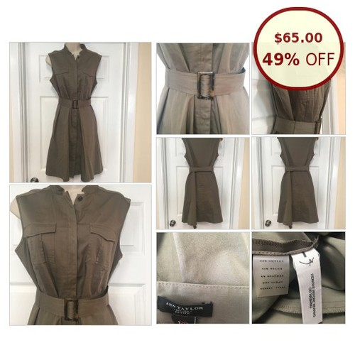 Banana Republic olive green safari dress @glamshoetique https://www.SharePicVideo.com/?ref=PostPicVideoToTwitter-glamshoetique #socialselling #PromoteStore #PictureVideo @SharePicVideo