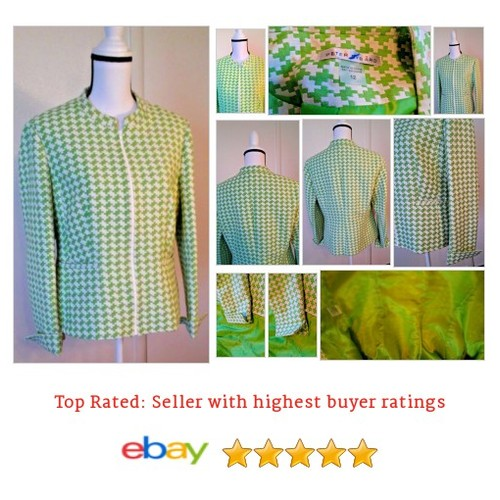 #Blazer Size 12 Lined #Green #Houndstooth #Zip  | eBay #Suit #PeterNygard #etsy #PromoteEbay #PictureVideo @SharePicVideo