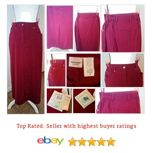 #Koret Monterey Skirt Full Length Brick Red Size 10 Pockets Back Slit | eBay #Skirt #FullSkirt #etsy #PromoteEbay #PictureVideo @SharePicVideo
