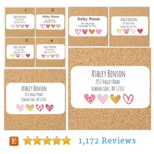 Cute Return address labels with hearts #etsy @labelinusa  #etsy #PromoteEtsy #PictureVideo @SharePicVideo