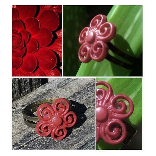 Red Flower Ring Girls Button Ring  Adjustable Red Flower Ring  Kids Jewelry Upcycled Button Ring #etsyspecialt #integritytt #SpecialTGIF #Specialtoo  #TMTinsta      @TwitchTV_RT  @RogueRTs @FEAR_RTs #etsy #PromoteEtsy #PictureVideo @SharePicVideo