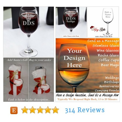 Dentist Wine Glass, Gift for Dentists, #etsy @tipsygift  #etsy #PromoteEtsy #PictureVideo @SharePicVideo