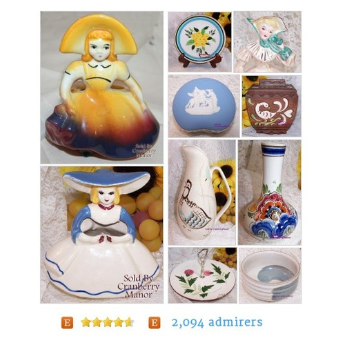 Vintage Pottery from CranberryManor Etsy shop #VintagePottery #etsy #PromoteEtsy #PictureVideo @SharePicVideo