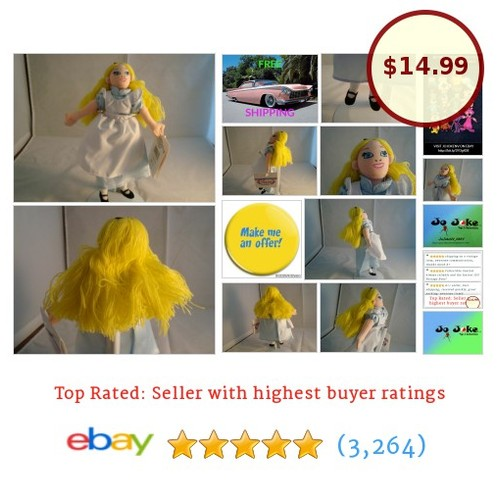 DISNEY STORE-ALICE IN WONDERLAND-BEAN PLUSH-8 IN-LONG HAIR-NEW/TAGS-UNIQUE-FIND! | eBay #DisneySTOREEXCLUSIVE #etsy #PromoteEbay #PictureVideo @SharePicVideo