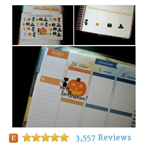 Halloween Countdown Stickers @planinspired  #etsy #PromoteEtsy #PictureVideo @SharePicVideo