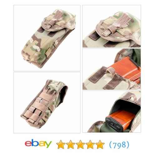 Molle Double Rifle Mag Pouch .308 7.62mm AK .223 5.56mm AR-15 4 Mags #ebay @luckymarket1  #etsy #PromoteEbay #PictureVideo @SharePicVideo