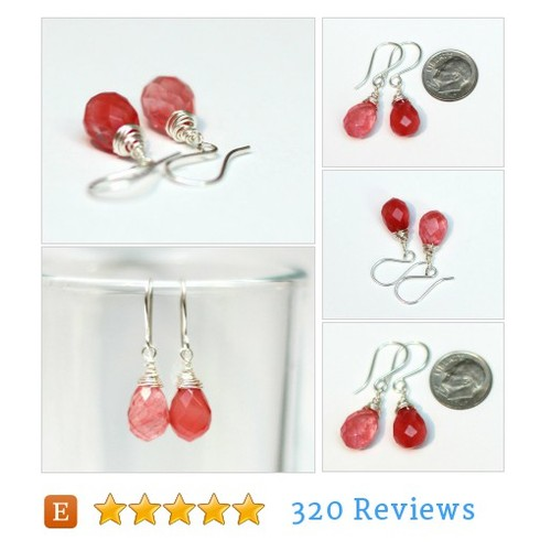 Strawberry Quartz Earrings #Jewelry #earring @_kidalia  #etsy #PromoteEtsy #PictureVideo @SharePicVideo