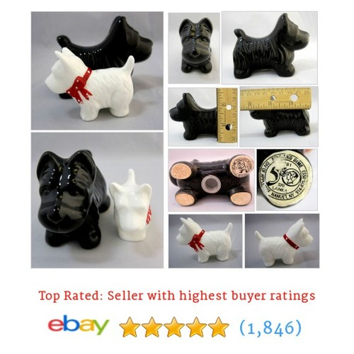 Scottish Terriers Dog Figurines Statue Vintage 1 Black 1 White | eBay #ebay @sb55online  #etsy #PromoteEbay #PictureVideo @SharePicVideo