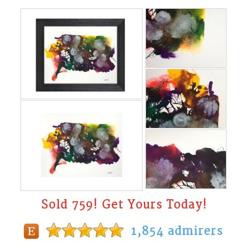 Original Abstract #Watercolor On Paper. 11x14 Inch Abstract Wall Art. Abstract Watercolor Painting. Abstract Painting. Abstract #Art Decor #Painting #etsy #PromoteEtsy #PictureVideo @SharePicVideo
