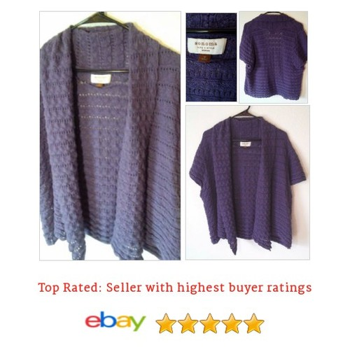 #Sonoma Woman 1xl Short Sleeve Open Front #Pointelle Knit Sweater #Cardigan #Sweater #etsy #PromoteEbay #PictureVideo @SharePicVideo
