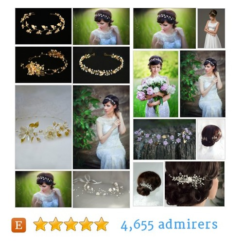 Pearl gold tiaras - Wedding headpieces #etsy @kov181  #etsy #PromoteEtsy #PictureVideo @SharePicVideo