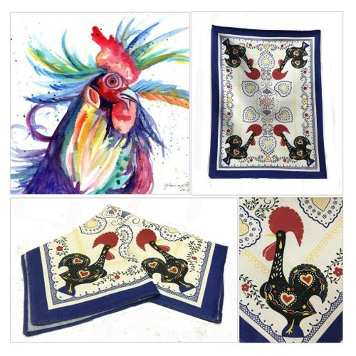 Tea Towel  Vintage Rooster Tea Towel Vintage Table Topper -Blue, Red and Yellow Cotton Towel Vintage Linens Rooster Hearts Towel #etsyspecialt #integritytt #SpecialTGIF #Specialtoo  #TMTinsta     @SGH_RTs  @DestelloRTs @Quickest_Rts #etsy #PromoteEtsy #PictureVideo @SharePicVideo