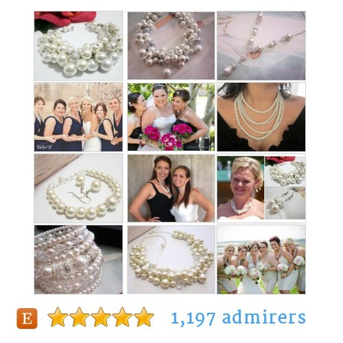 Pearl Wedding Necklaces,Bracelets #etsyhmw #etsyspecialt #epiconetsy @EarthRT @Relay_RTs #etsy #PromoteEtsy #PictureVideo @SharePicVideo