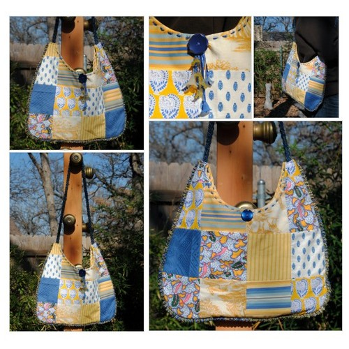 Yellow and Blue Provence Goes a Little Shabby Chic-Shoulder Bag with Blue and Yellow Lilly Dangles  #etsyspecialt #TMTinsta  @pawelterlecki  @BlazedRTs @FearRTs  @sme_rt #vintagefrenchfabric #provence #piecedhobobag #projectbag #Fashionpurse #etsy #PromoteEtsy #PictureVideo @SharePicVideo