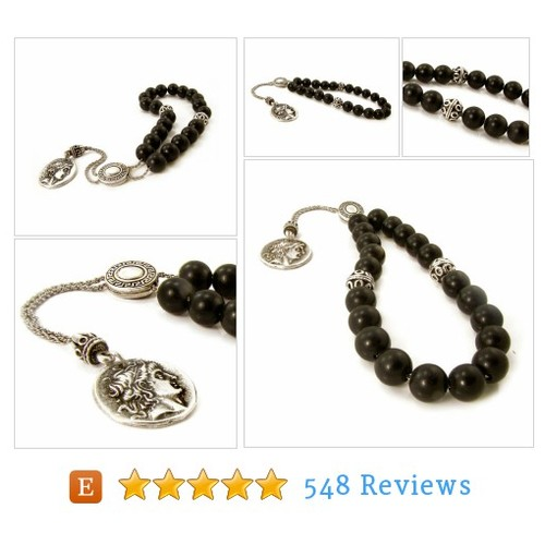 Black Obsidian Komboloi, Greek Worry Beads, #etsy @sunnygiftsone  #etsy #PromoteEtsy #PictureVideo @SharePicVideo
