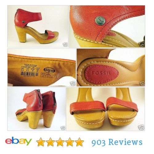 #FOSSIL Womens Platform Sandals Size 8.5 Wood Soles Red Leather Ankle Straps | eBay  #Sandal #etsy #PromoteEbay #PictureVideo @SharePicVideo