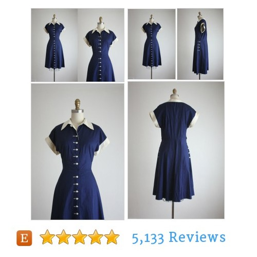 1950s sapphire sea dress #dress #clothing #etsy @thrushvintage  #etsy #PromoteEtsy #PictureVideo @SharePicVideo