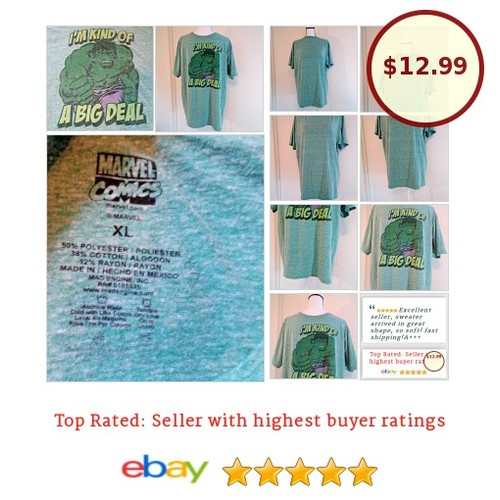 #MARVELCOMICS Mens XL #HULK T shirt #FathersDay #DadGift | eBay #marvel #TShirt #GraphicTee #etsy #PromoteEbay #PictureVideo @SharePicVideo