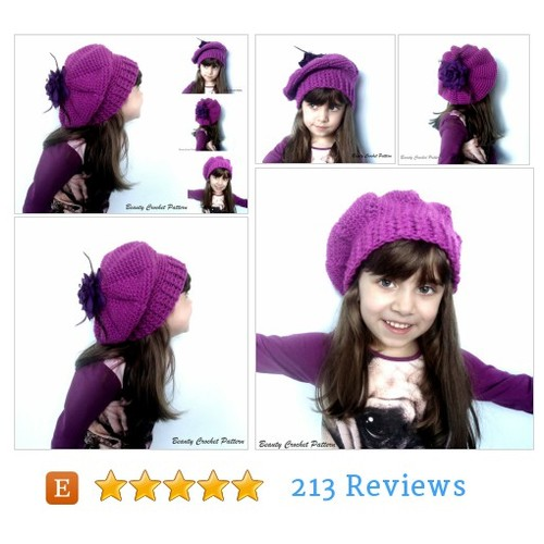 Crochet Pattern Slouchy French Beret #etsy @beautycrochet  #etsy #PromoteEtsy #PictureVideo @SharePicVideo