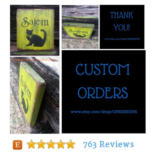 Salem, Black Cat, Cats, Halloween, Wiccan, #etsy @one11signs  #etsy #PromoteEtsy #PictureVideo @SharePicVideo