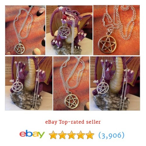 Pentacle Pendant & Pouch. Pentagram Necklace on chain. Pagan #ebay @wildseawitch  #etsy #PromoteEbay #PictureVideo @SharePicVideo