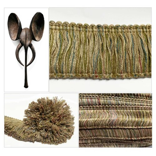 Long Brush Fringe Trim  Beige with Rust and Green Variegated  Earthy Conso 2 1/2 inch Brush Trim for Pillows and Crafts  #etsyspecialt #integritytt #SpecialTGIF #Specialtoo  #TMTinsta      @SGH_RTs  @OrbiTalRTs @RTFAMDNR #consotrim #brushtrim #fringe #etsy #PromoteEtsy #PictureVideo @SharePicVideo