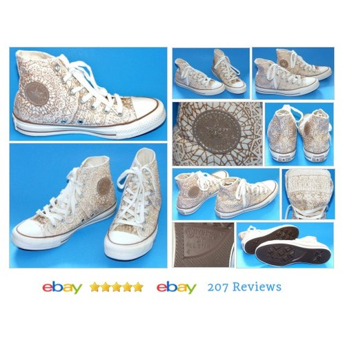 #Converse All Star Chuck Taylor Hi Top Canvas Glitter Geometric Design #Casual #Athletic #etsy #PromoteEbay #PictureVideo @SharePicVideo