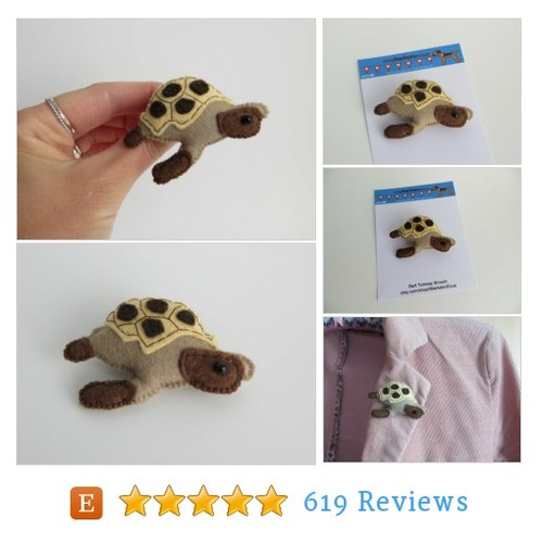 Bert the Tortoise hand sewn felt brooch #etsy @misheleneous  #etsy #PromoteEtsy #PictureVideo @SharePicVideo