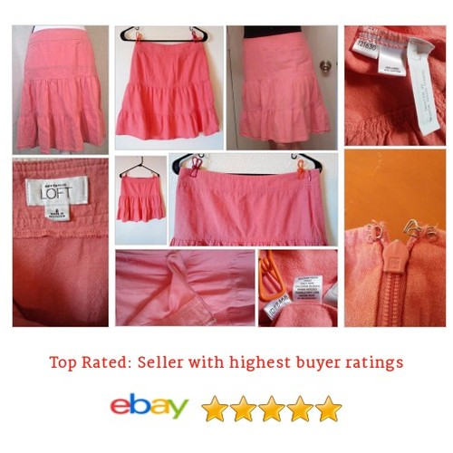 Ann Taylor Loft Peasant #Skirt Salmon At knee Sz Medium | eBay #Boho #Peasant #etsy #PromoteEbay #PictureVideo @SharePicVideo