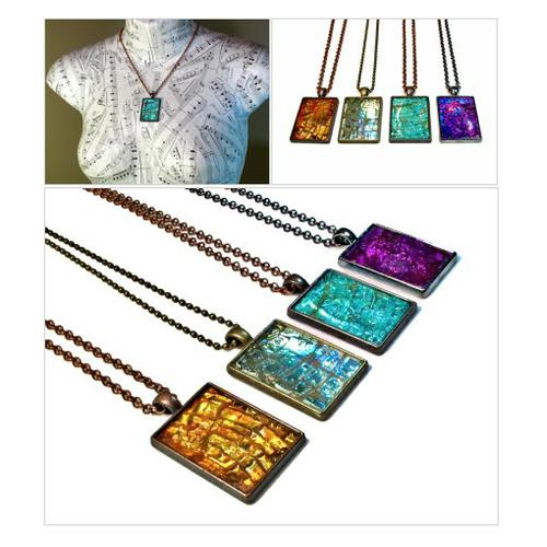 So much SHIMMER! Modern Eco Friendly Pendant Necklaces #Recycled From CDs and DVDs!!! #socialselling #PromoteStore #PictureVideo @SharePicVideo
